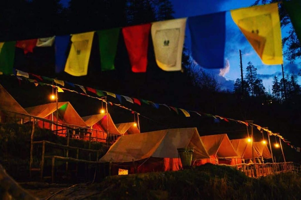 Camping in Mail Kasol
